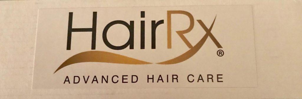 logo for HairRx Advanced Hair Care, neversaydiebeauty.com