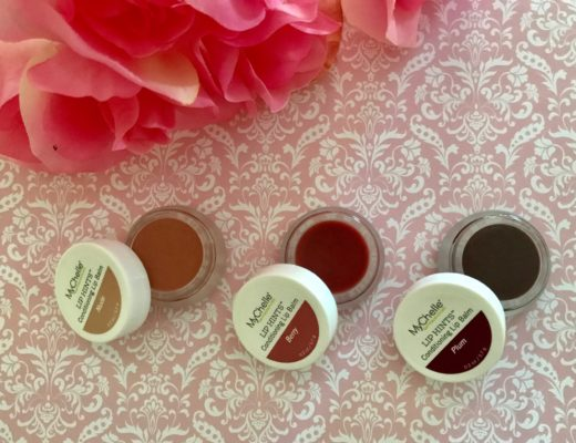 MyChelle Lip Hints in Nude, Berry, Plum open to show the shades, neversaydiebeauty.com