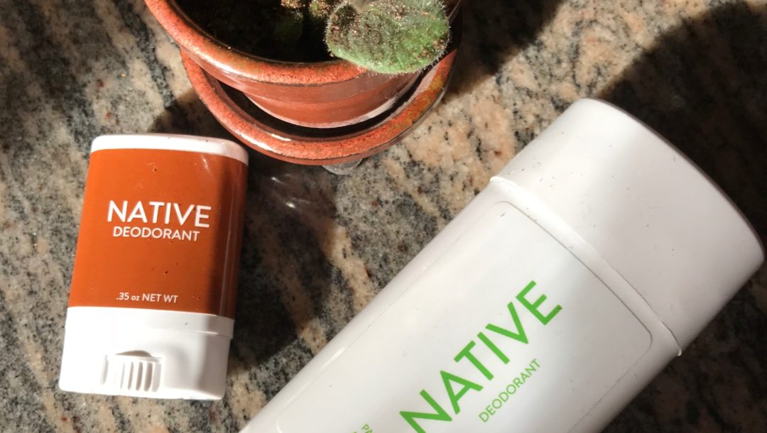 Native natural deodorant in travel and full sizes, neversaydiebeauty.com