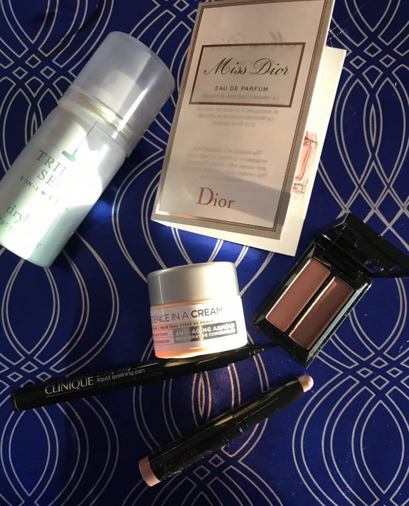 contents of the Sephora Play Glam Straight December 2017 bag, neversaydiebeauty.com