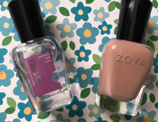 Zoya Armor Topcoat and cream polish shade Cathy, neversaydiebeauty.com