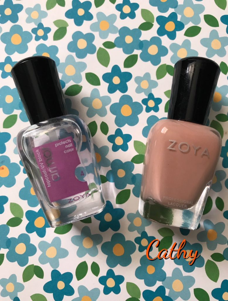 Zoya Armor Topcoat and cream polish shade Cathy, neversaydiebeauty.com
