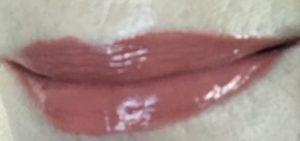 lip swatch of Anastasia Beverly Hills Lip Gloss in Caramel, neversaydiebeauty.com