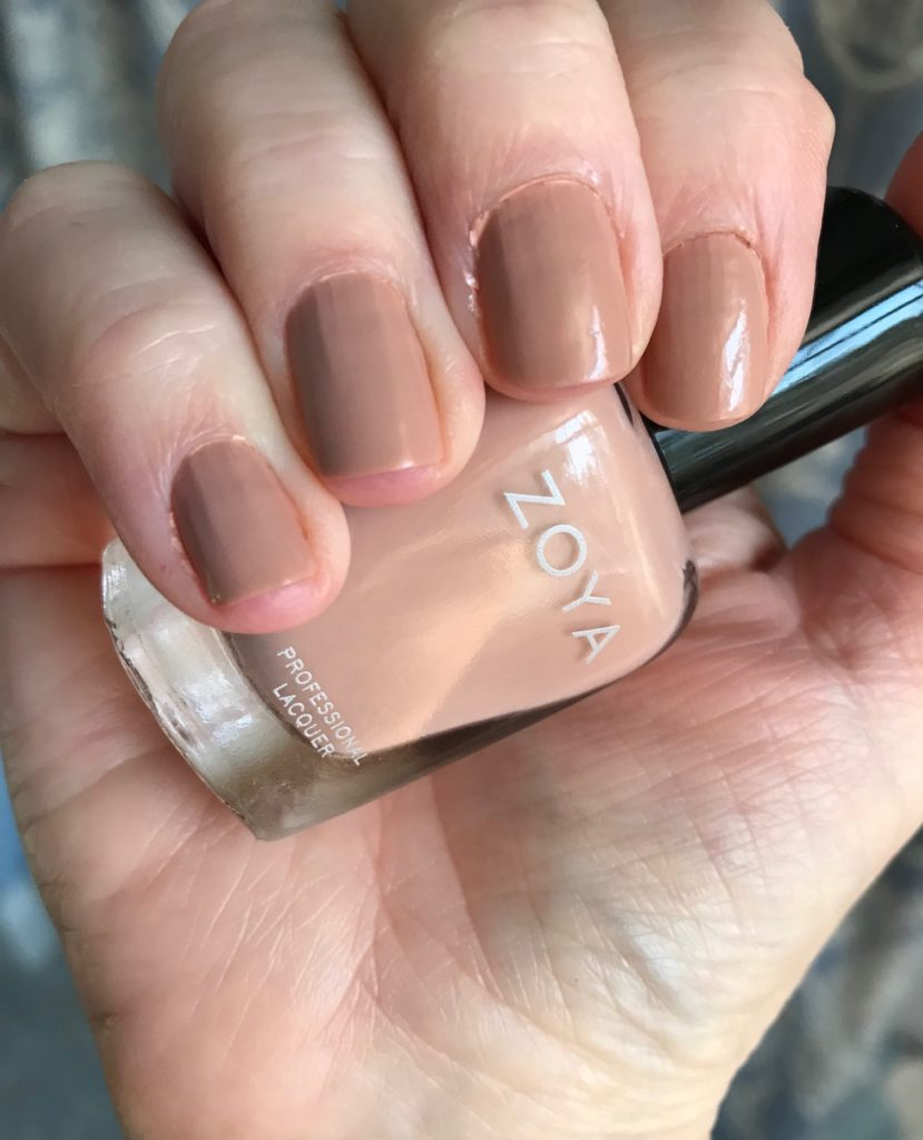 my nails wearing Zoya Cathy, neversaydiebeauty.com