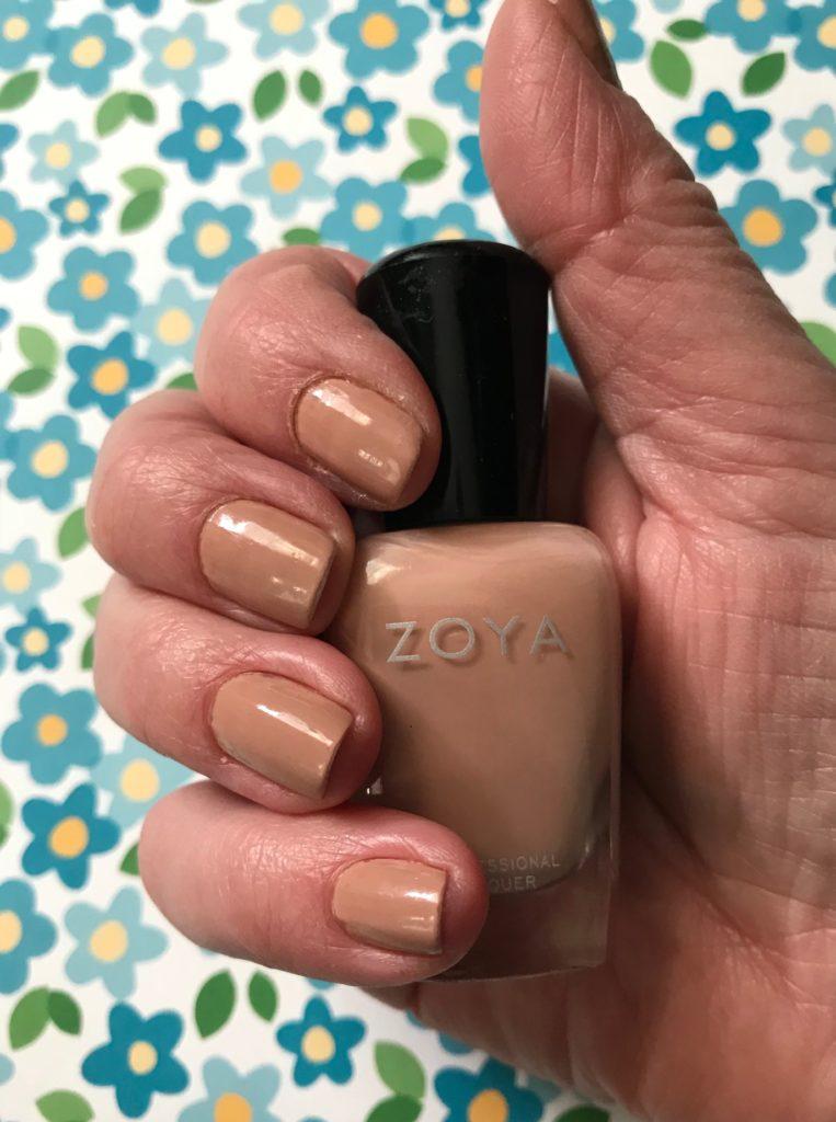 nails wearing Zoya Cathy nail polish, neversaydiebeauty.com