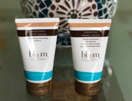 tubes of Bloom Shielding Foot and Hand Creams, neversaydiebeauty.com