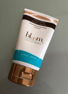 Bloom Shielding Foot Cream tube, neversaydiebeauty.com
