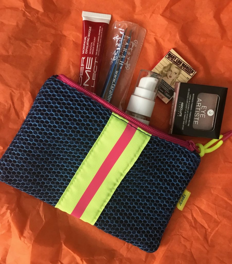 Ipsy bag & contents for January 2018, neversaydiebeauty.com