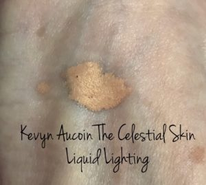 unblended swatch of Kevyn Aucoin The Celestial Skin Liquid Lighting, shade Sunlight, neversaydiebeauty.com