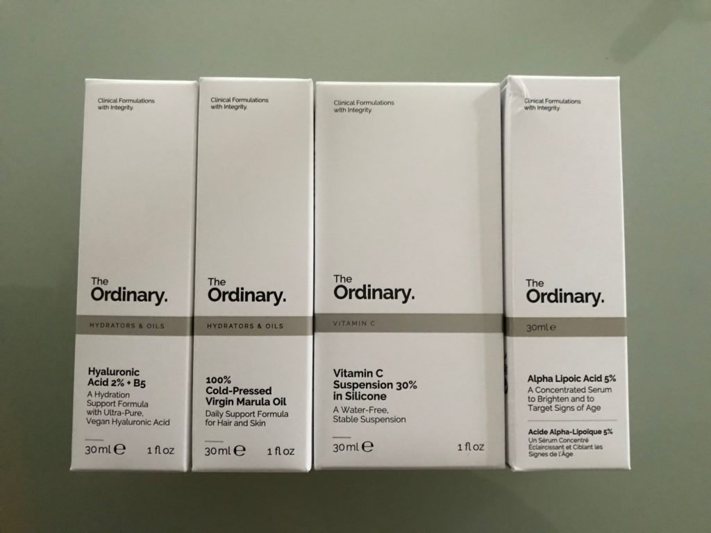 4 skincare products from The Ordinary, neversaydiebeauty.com