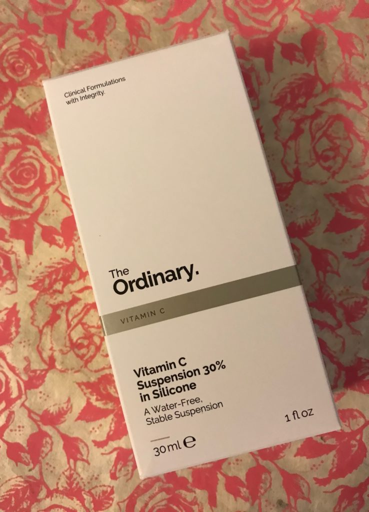 The Ordinary Vitamin C Suspension 30% in Silicone outer packaging, neversaydiebeauty.com