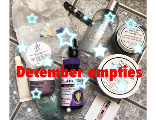 December 2017 beauty empties, neversaydiebeauty.com