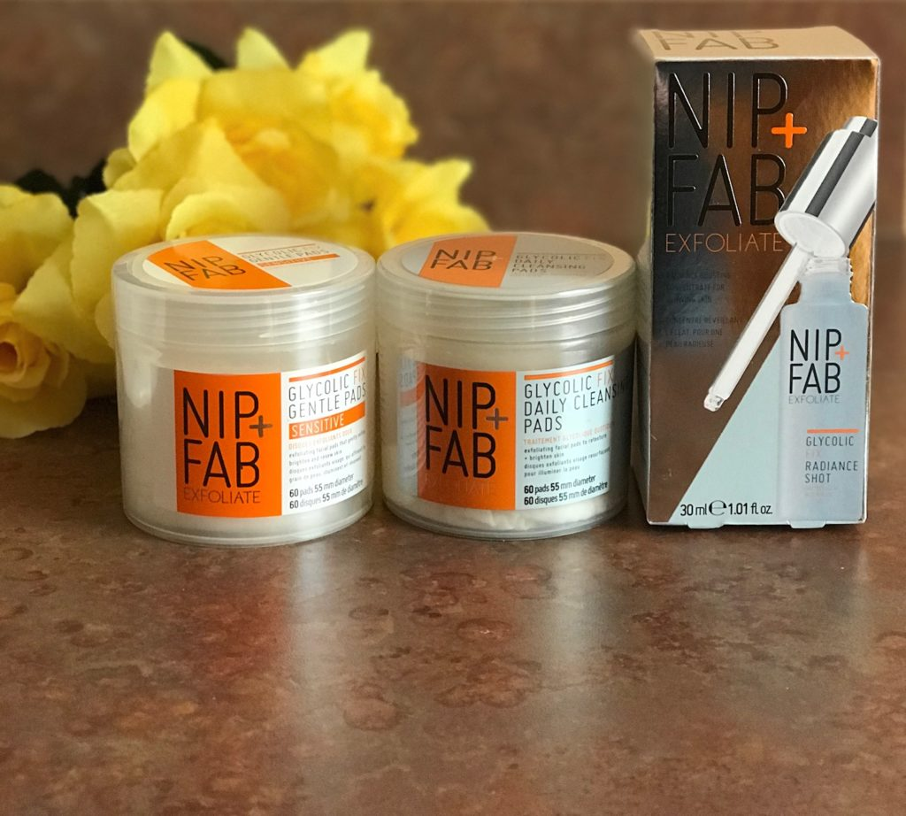 NIP+FAB Glycolic Fix trio of skincare products, neversaydiebeauty.com