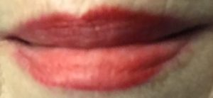 lip swatch after a meal, Sephora Cream Lip Stain in Always Red, neversaydiebeauty.com